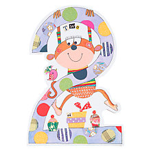 Buy Rachel Ellen Birthday Card, Age 2 Monkey Online at johnlewis.com