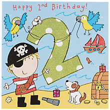 Buy Twizler Pirate Birthday Card, Age 2 Online at johnlewis.com
