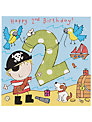 Twizler Pirate Birthday Card, Age 2