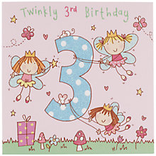 Buy Twizler Fairy Birthday Card, Age 3 Online at johnlewis.com