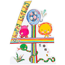 Buy Rachel Ellen Birthday Card, Age 4 Online at johnlewis.com