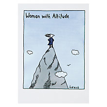Buy Cath Tate Cards Woman With Altitude Greeting Card Online at johnlewis.com