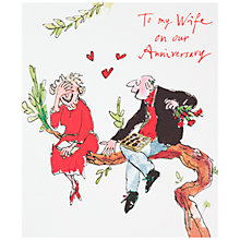 Buy Woodmansterne Wife Anniversary Card Online at johnlewis.com