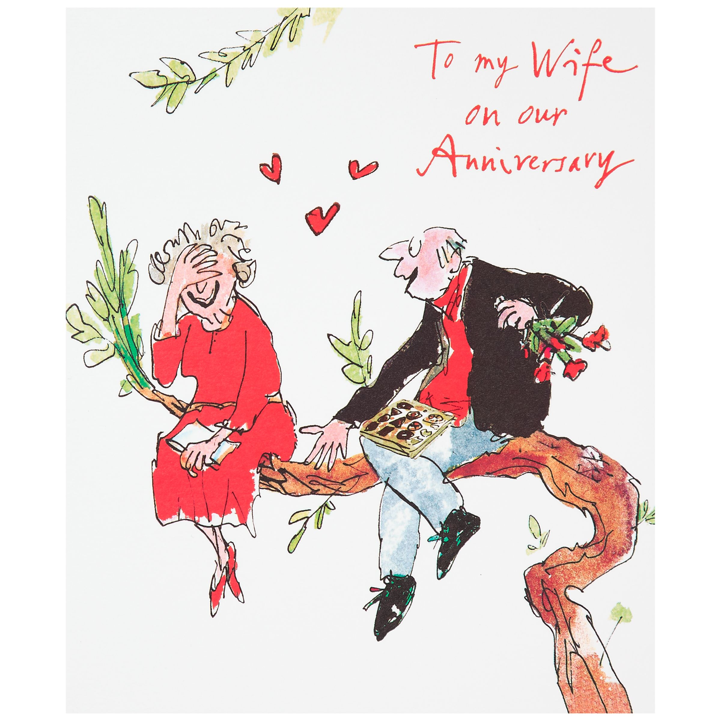 Ruby Wedding Gift Ideas John Lewis : Buy Woodmansterne Wife Anniversary Card Online at johnlewis.com