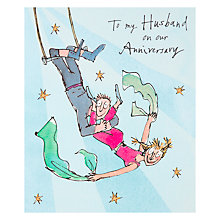Buy Woodmansterne Husband Anniversary Card Online at johnlewis.com