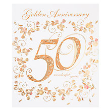 Buy Woodmansterne Golden Anniversary Card Online at johnlewis.com