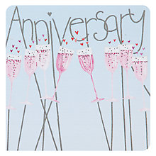 Buy Mint Flutes Anniversary Card Online at johnlewis.com