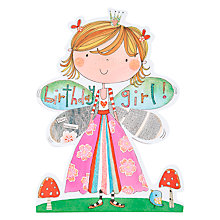Buy Rachel Ellen Birthday Girl Fairy Princess Card Online at johnlewis.com