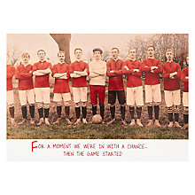 Buy Pigment Football Birthday Humorous Card Online at johnlewis.com