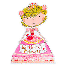 Buy Rachel Ellen Birthday Princess Card Online at johnlewis.com