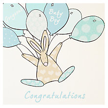 Buy The little Dog Laughed Baby Boy Balloons Card Online at johnlewis.com