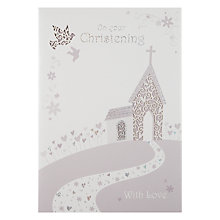 Buy On Your Christening Greeting Card Online at johnlewis.com