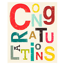Buy Art File Congratulations Card, Multi Online at johnlewis.com