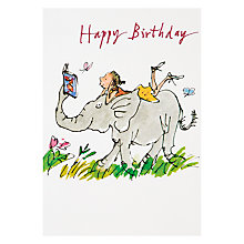 Buy Woodmansterne Elephant & Girl Birthday Card Online at johnlewis.com