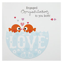 Buy Engaged Congratulations Greeting Card Online at johnlewis.com