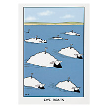 Buy Art Group Ewe Boats Greeting Card Online at johnlewis.com