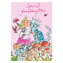Buy Woodmansterne Granddaughter Birthday Card, Pink Online at johnlewis.com