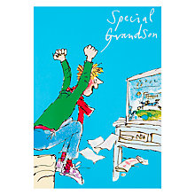 Buy Woodmansterne Grandson Football Birthday Card Online at johnlewis.com