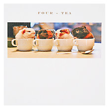 Buy Susan O' Hanlon 'Four-Tea' 40th Birthday Card Online at johnlewis.com