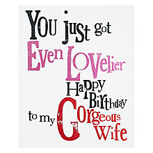 Buy Really Good Happy Birthday Gorgeous Wife Online at johnlewis.com