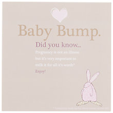 Buy The little Dog Laughed New Baby Bump Card Online at johnlewis.com