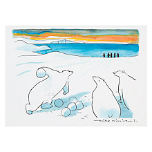 Buy Wildcard Polar Bowling Greeting Card Online at johnlewis.com