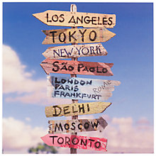 Buy Signpost with Multiple Destinations Greeting Card Online at johnlewis.com