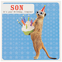 Buy Paperlink Meerkat Son Birthday Card Online at johnlewis.com