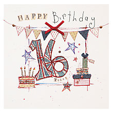 Buy Mint 16th Birthday Card Online at johnlewis.com