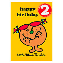 Buy Little Miss Trouble Birthday Card, Age 2 Online at johnlewis.com