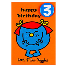 Buy Hype Little Miss Giggles Birthday Card, Age 3 Online at johnlewis.com