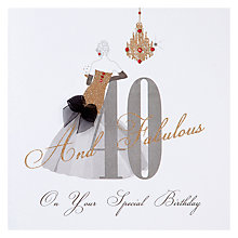 Buy Five Dollar Shake 40 and Fabulous Birthday Card Online at johnlewis.com