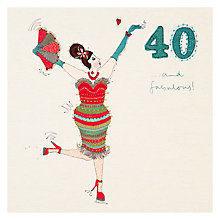 Buy Woodmansterne 40th Birthday Card Online at johnlewis.com