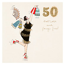 Buy Woodmansterne 50th Birthday Card Online at johnlewis.com