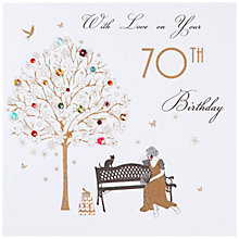 Buy Five Dollar Shake 70th Birthday Card Online at johnlewis.com