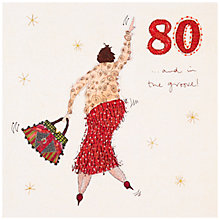 Buy Woodmansterne 80th Birthday Card Online at johnlewis.com