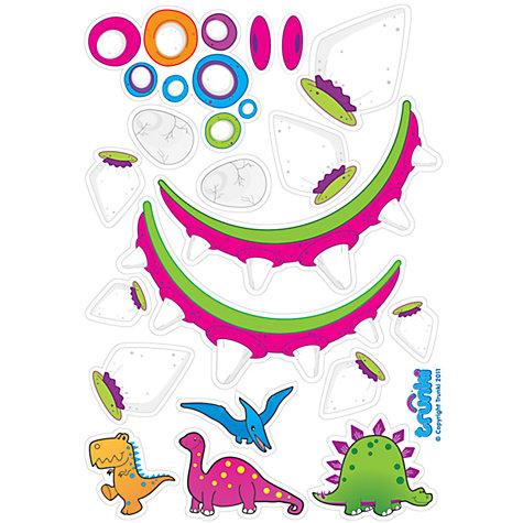 Buy Dino Girl Stickers, Multi Online at johnlewis.com