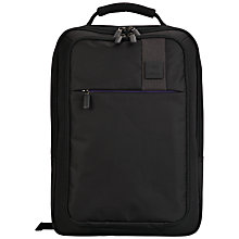 "Buy John Lewis X'Air 11.5"" Laptop/iPad Backpack Black/Purple Online at johnlewis.com"