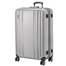 Buy John Lewis Knox 4-Wheel Large Suitcase, Silver Online at johnlewis.com