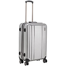Buy John Lewis Knox 4-Wheel Medium Suitcase, Silver Online at johnlewis.com
