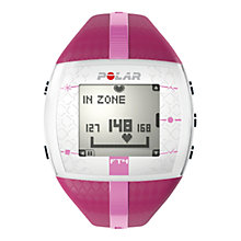 Buy Polar FT4F Heart Rate Monitor Sports Watch, Pink Online at johnlewis.com