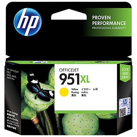 Buy HP 951XL Ink Cartridge, Yellow, CN048AE Online at johnlewis.com