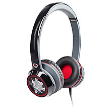 Buy Monster NCredible Ntune On-Ear Headphones with ControlTalk, Silver/Red Online at johnlewis.com