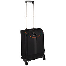 Buy John Lewis Seville 4-Wheel Cabin Spinner Suitcase, Black/Orange Online at johnlewis.com