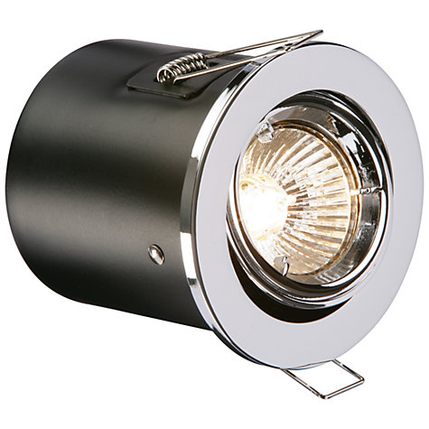 Buy Saxby Recessed Shield MV Tilt Spotlight, Chrome Online at johnlewis.com