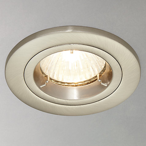 Buy Saxby Recessed Shield MV Fixed Spotlight, Satin/Silver Online at johnlewis.com