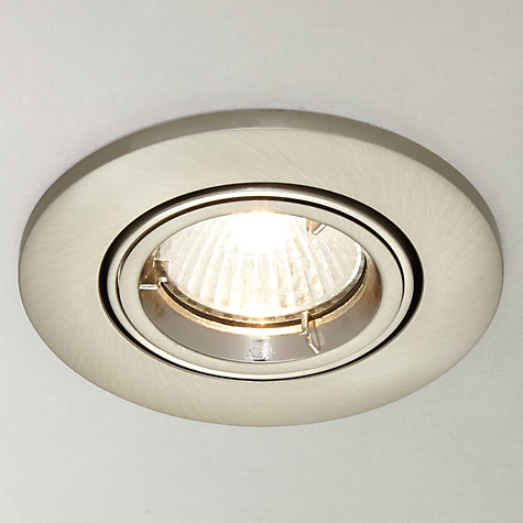 Buy Saxby Recessed Shield MV Tilt Spotlight, Satin/Silver Online at johnlewis.com
