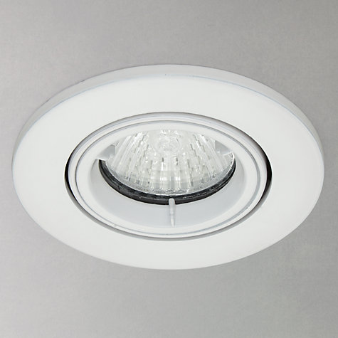 Buy Saxby Recessed Shield MV Tilt Spotlight, White Online at johnlewis.com