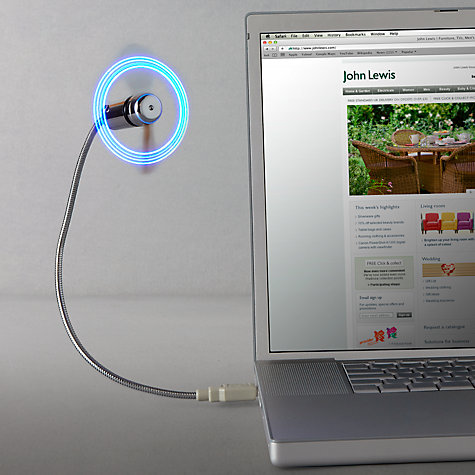 Buy Mathmos Stay Cool USB Fan Light Online at johnlewis.com
