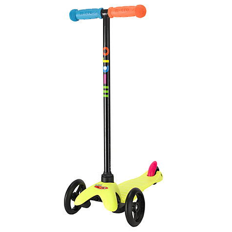 Buy Limited Edition Mini Micro T-Bar Scooter, Neon Yellow Online at johnlewis.com